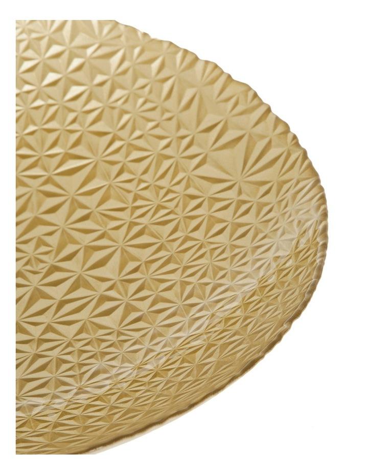 Geo Metallic Shallow Bowl 40cm Gold image 2