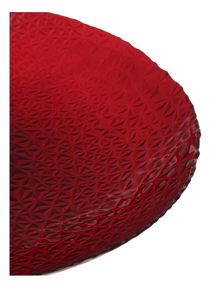 Geo Metallic Shallow Bowl 40cm Red image 2