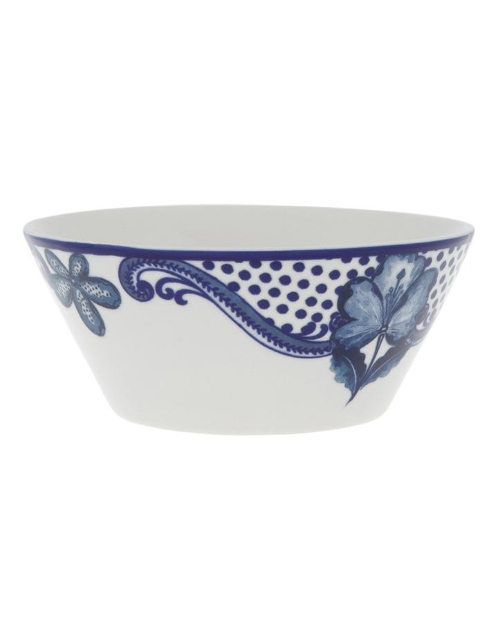 Blue Flower V Shape Bowl 15cm image 1