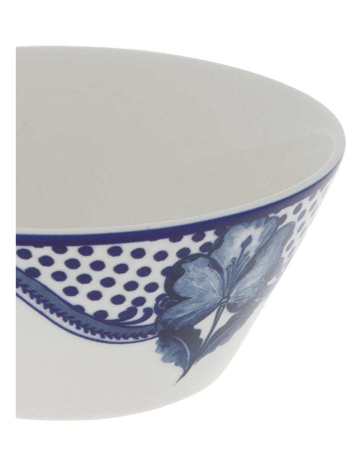 Blue Flower V Shape Bowl 15cm image 2