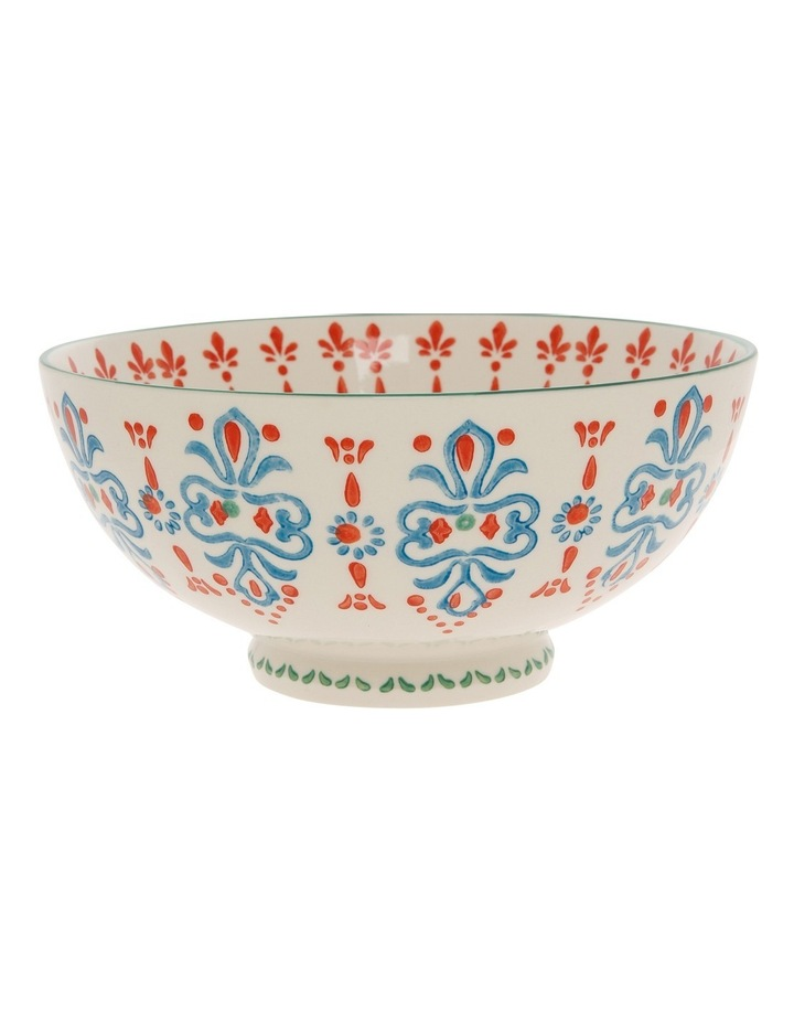 Hand Stamped Stoneware Bowl 17cm image 1