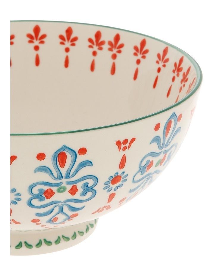 Hand Stamped Stoneware Bowl 17cm image 2