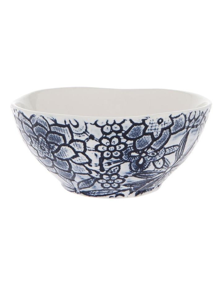 Oriental Flower Porcelain Bowl image 1