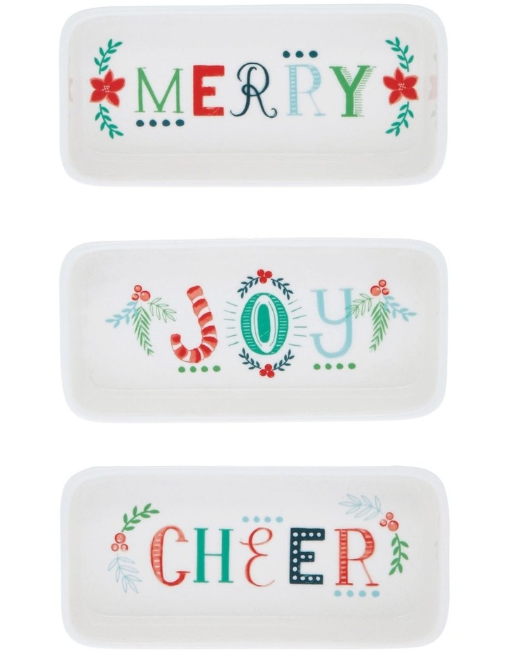 Merry & Bright Christmas Bowl 3pk image 1