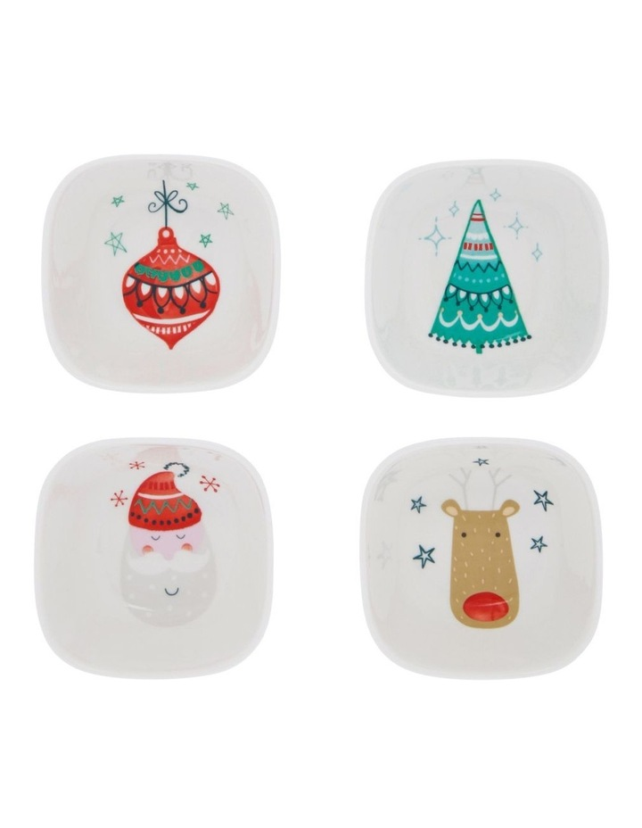 Merry & Bright Christmas Bowl 4pk image 1