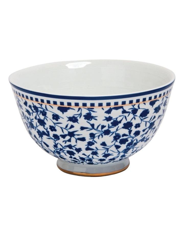 Floral Sprig Ribbed Bowl image 1
