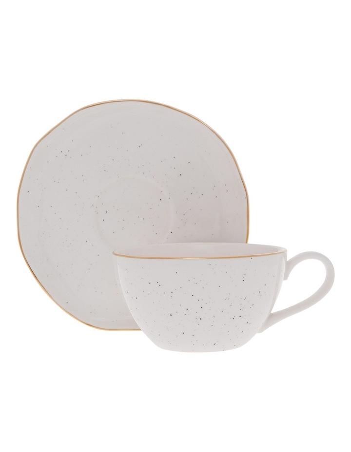 Porcelain Organic Shape Cup & Saucer 250ml image 1
