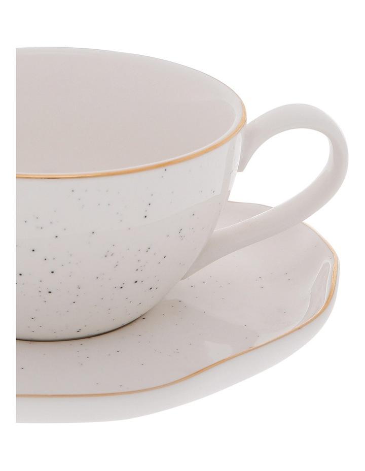 Porcelain Organic Shape Cup & Saucer 250ml image 2