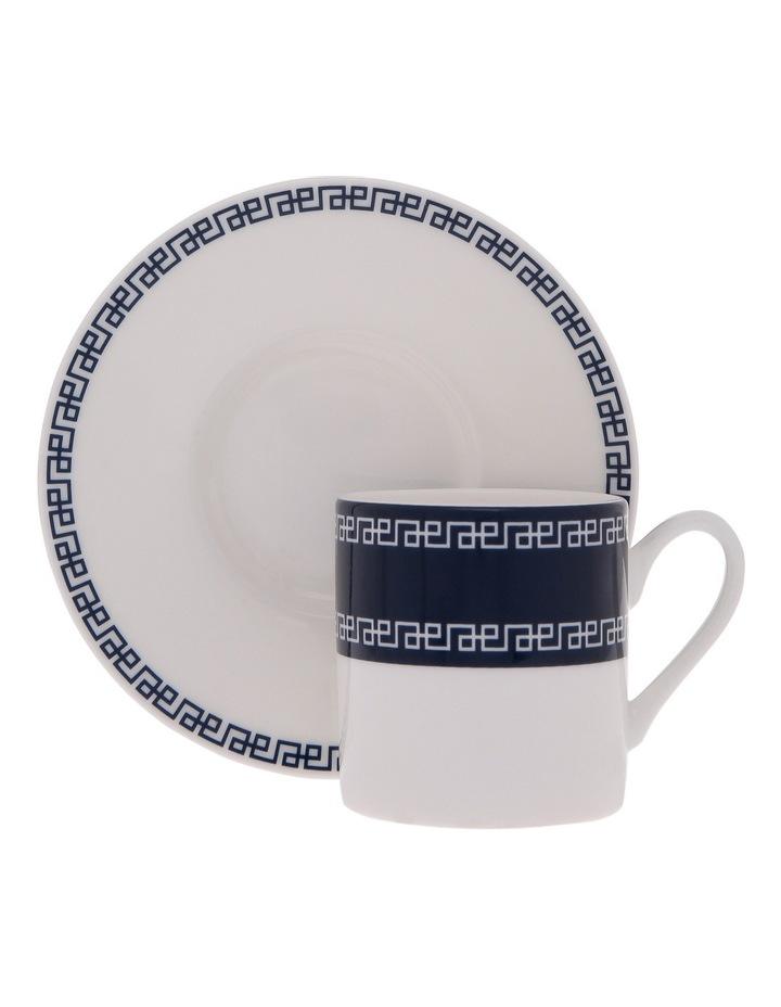 Grecian Fine Bone China Espresso Cup and Saucer image 1