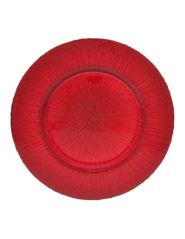 Glitter Charger Plate Red image 1