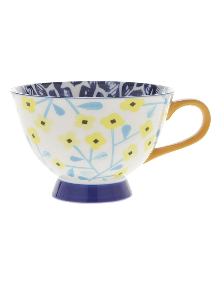 Multi Pedestal Mug Yellow Flower image 1
