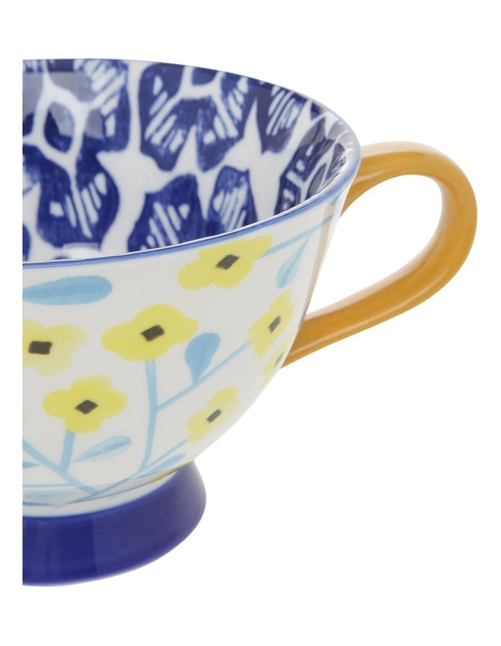 Multi Pedestal Mug Yellow Flower image 2