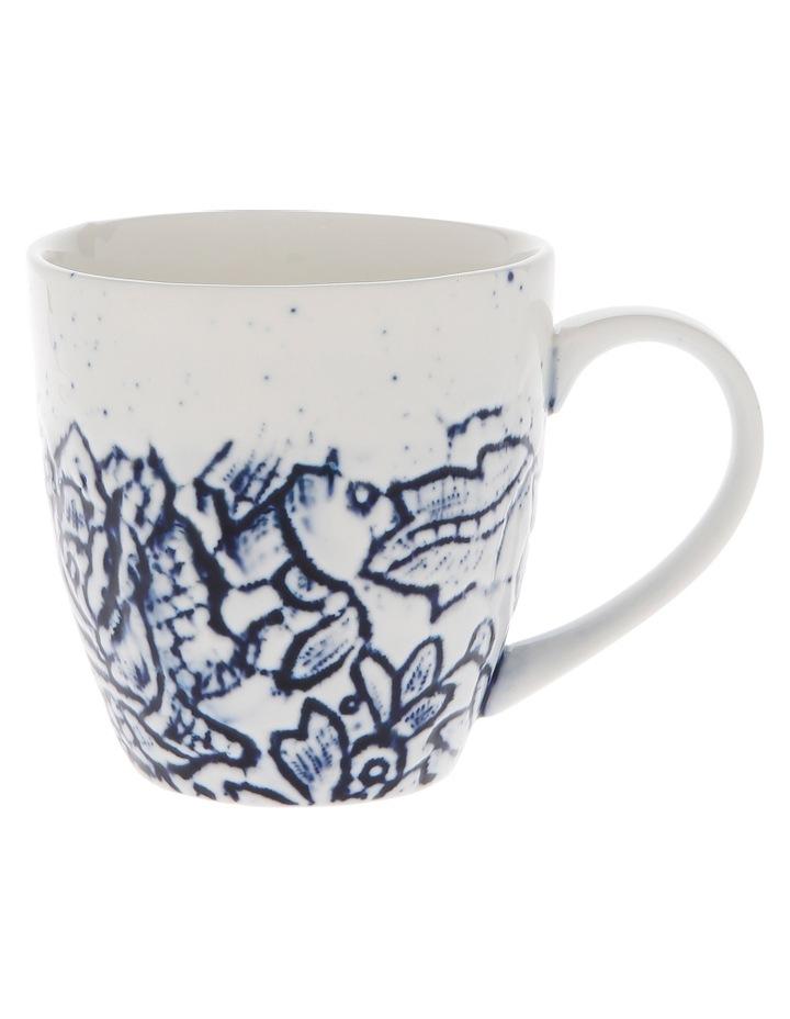 Oriental Flower Porcelain Mug image 2