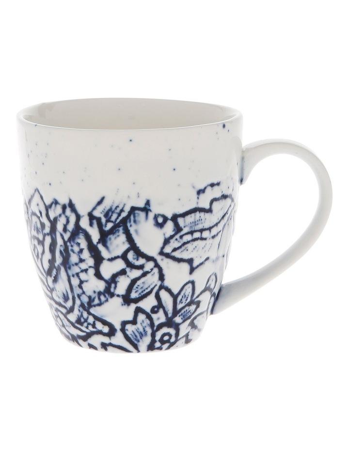 Oriental Flower Porcelain Mug image 1
