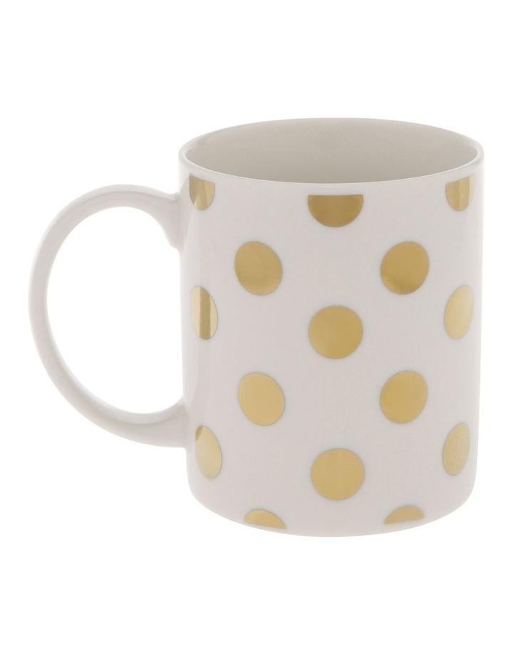 Gold-Look Large Polkadot Mug image 1