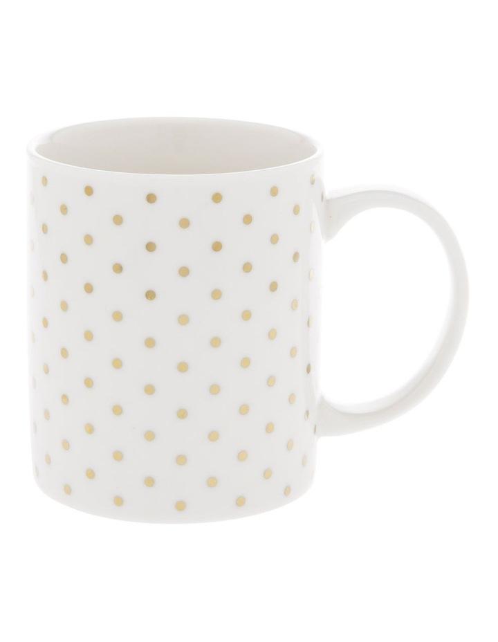 Gold-Look Small Polkadot Mug image 1