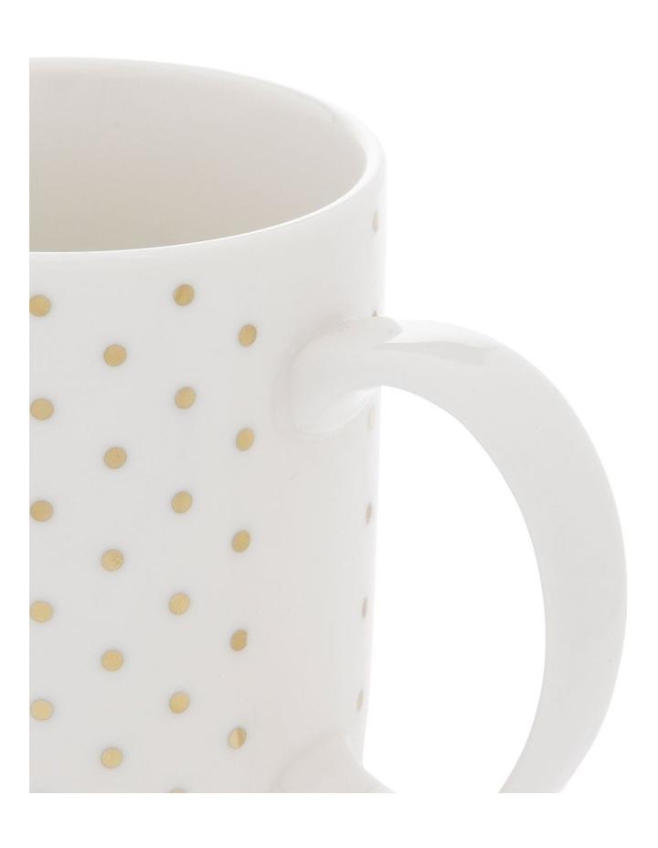 Gold-Look Small Polkadot Mug image 2