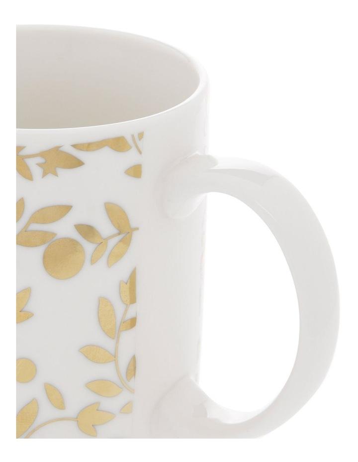 Gold-Look Leaf and Star Mug image 2