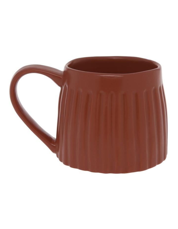 Vertical Ribbed Mug in Rust image 1