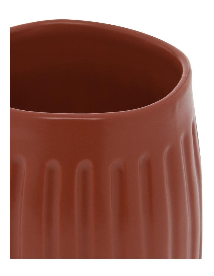 Vertical Ribbed Mug in Rust image 2