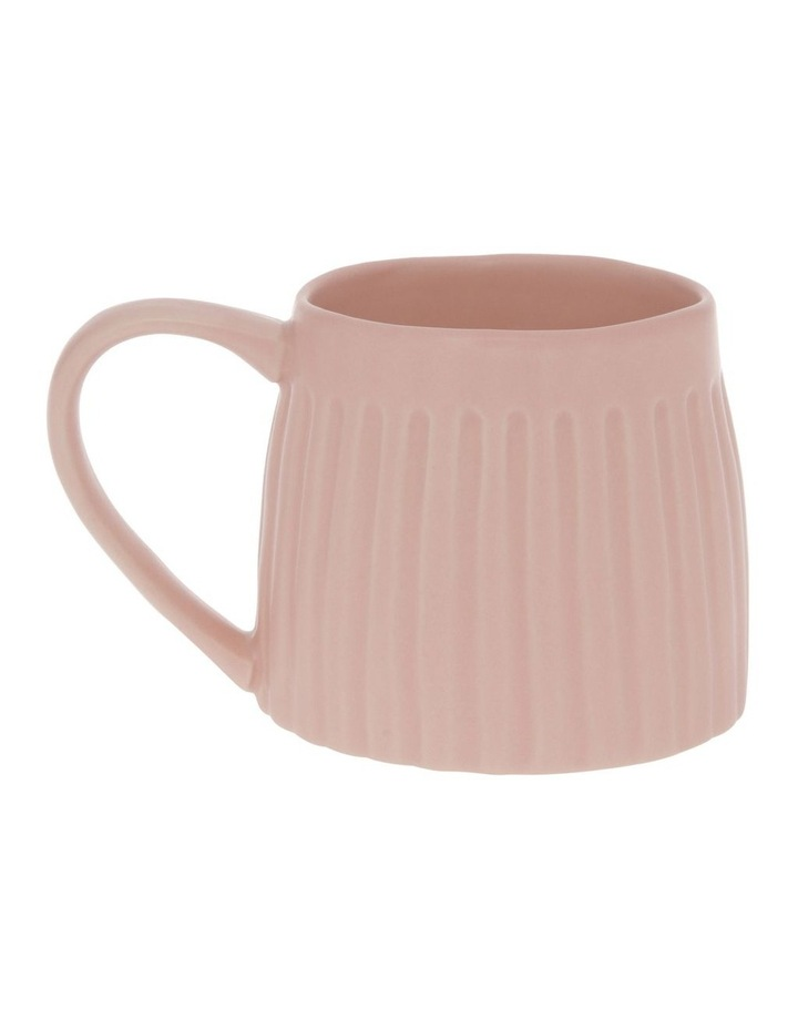 Vertical Ribbed Mug in Pink Sand image 1