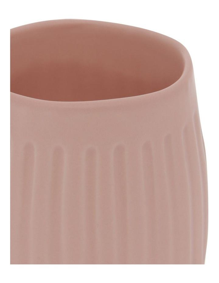 Vertical Ribbed Mug in Pink Sand image 2