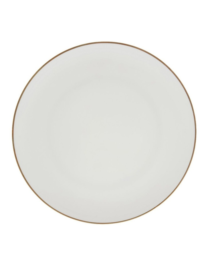 Largo Gold Rimmed Coupe Dinner Plate 25.5cm image 1