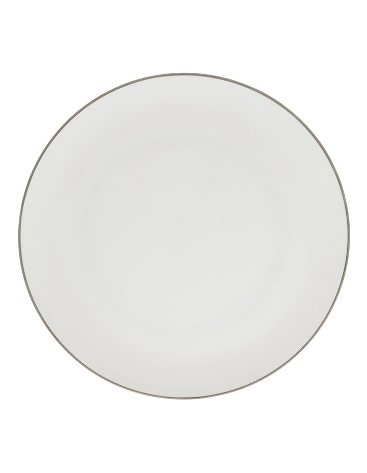 Largo Silver Rimmed Coupe Dinner Plate  25.5cm image 1