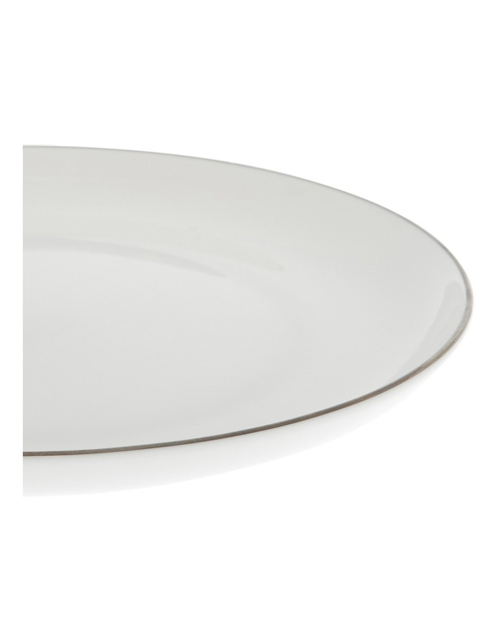 Largo Silver Rimmed Coupe Dinner Plate  25.5cm image 2