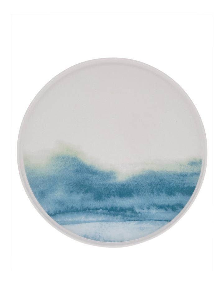 Blue Washed Rimmed Glazed Dinner Plate 27cm image 1