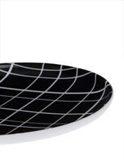 Vue - Lattice Black And White Coupe Side Plate 19cm