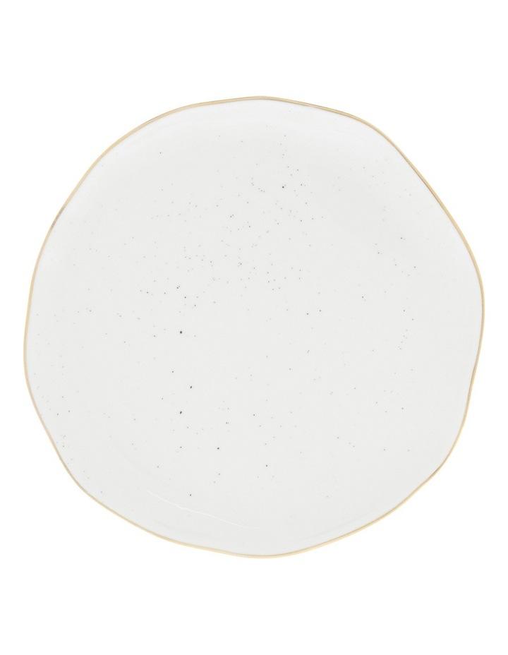 Porcelain Organic Shape Rimmed Side Plate 16cm image 1