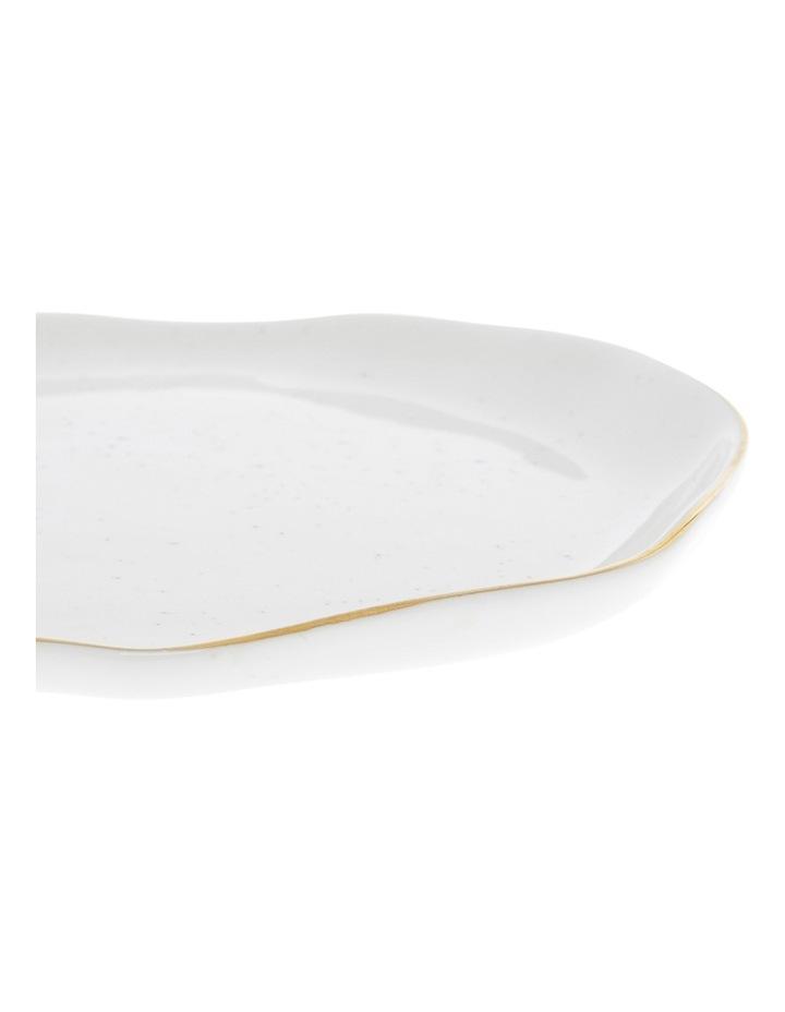 Porcelain Organic Shape Rimmed Side Plate 16cm image 2