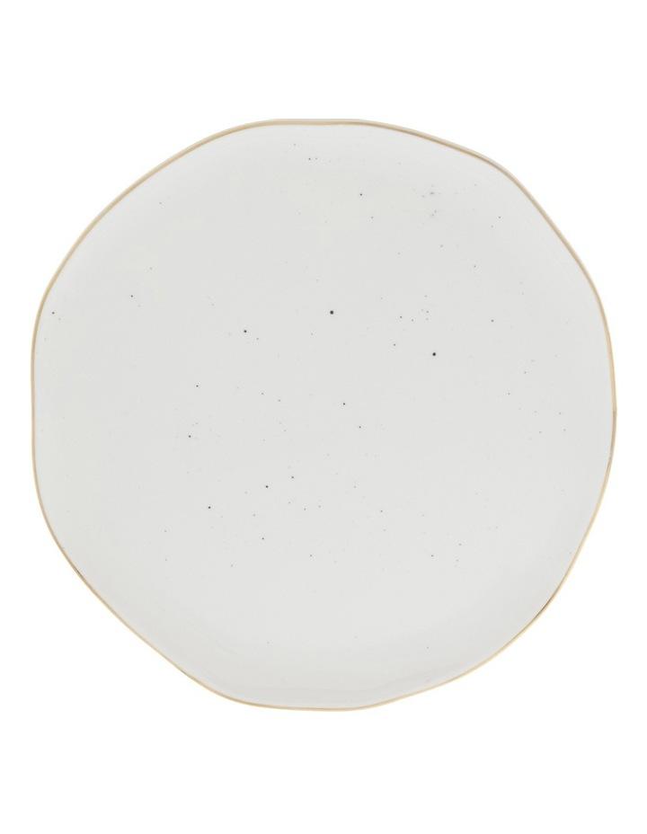 Porcelain Organic Shape Rimmed Dinner Plate 26cm image 1