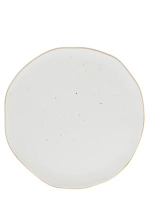 Vue - Porcelain Organic Shape Rimmed Dinner Plate 26cm