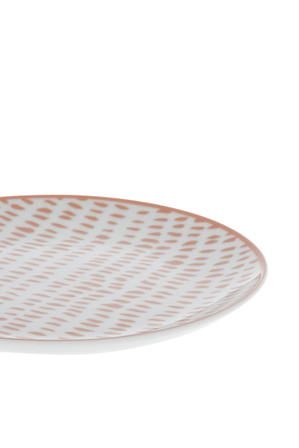 Heritage - Terra Firma Porcelain Coupe Red Side Plate 19cm