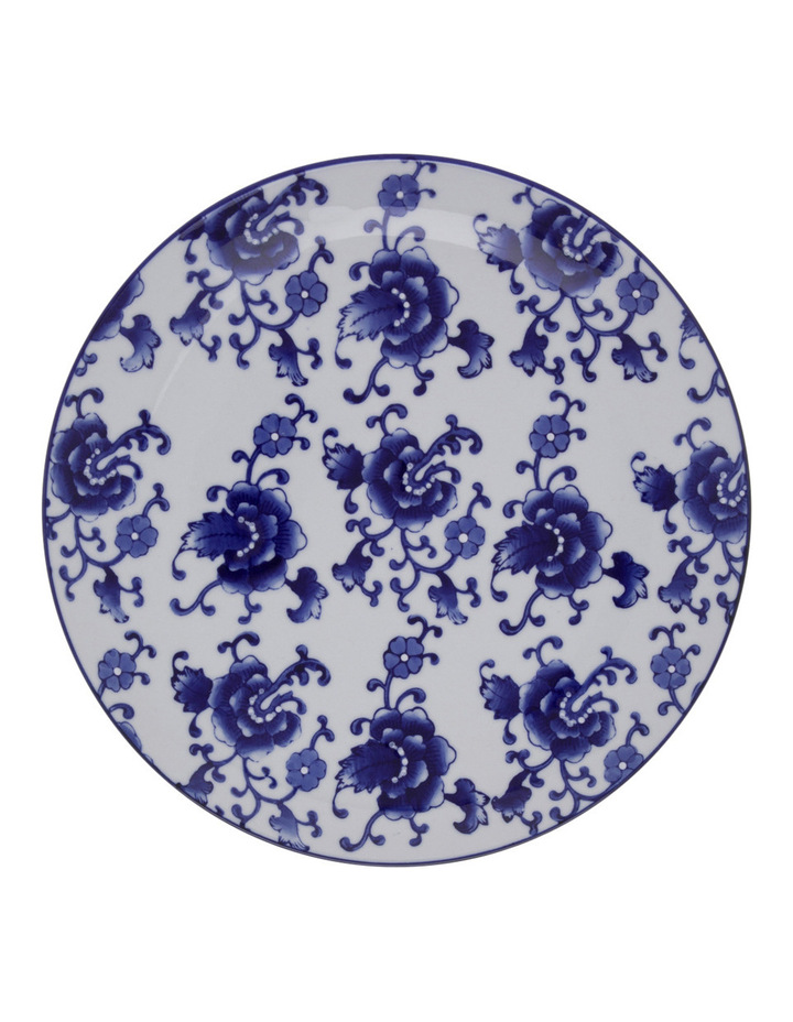 Blue Collage Floral 25cm Plate image 1