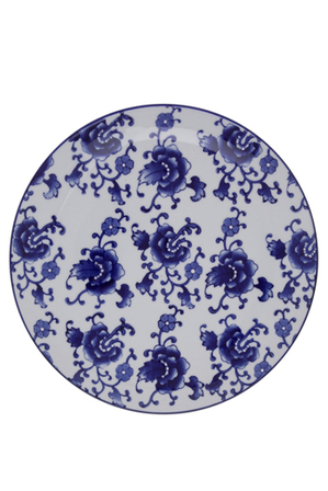 Heritage - Blue Collage Floral 25cm Plate