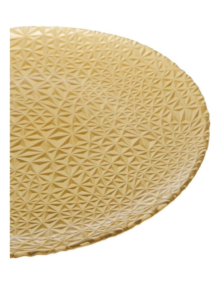 Geo Metallic Platter 33cm Gold image 2