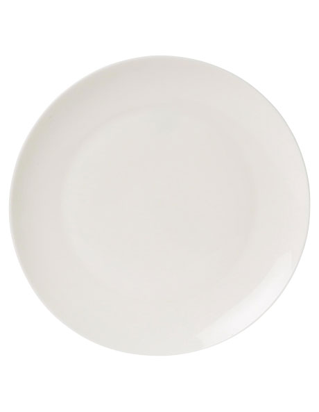 Como Coupe Dinner Plate White 25cm image 1