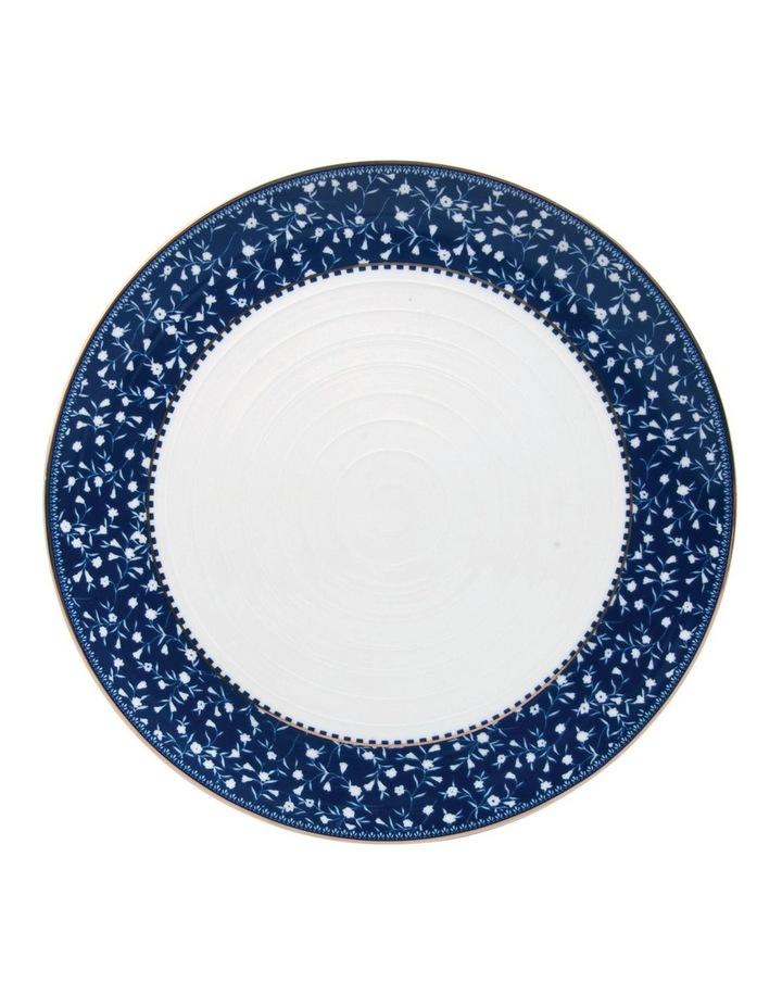 Floral Sprig Ribbed Dinner Plate image 1