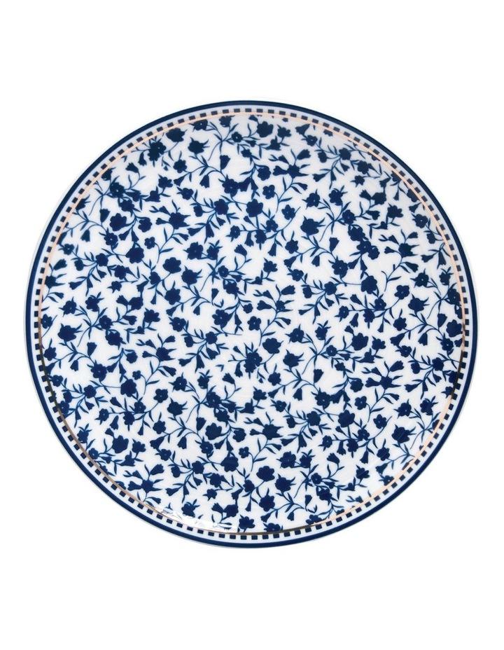 Floral Sprig Ribbed Side Plate image 1