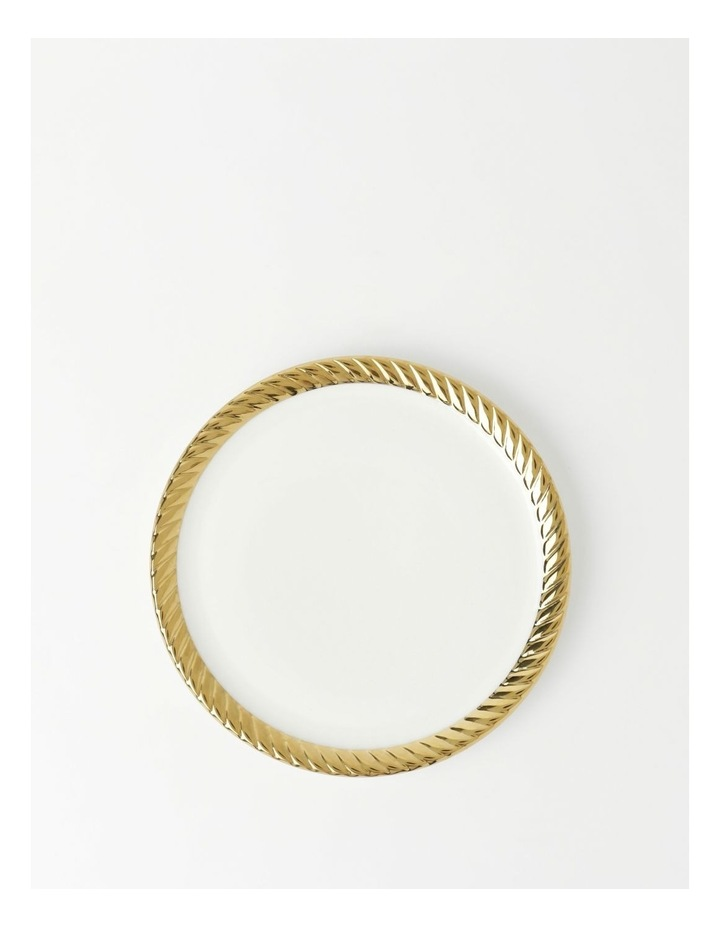 Gold Rope Side Plate in White image 1