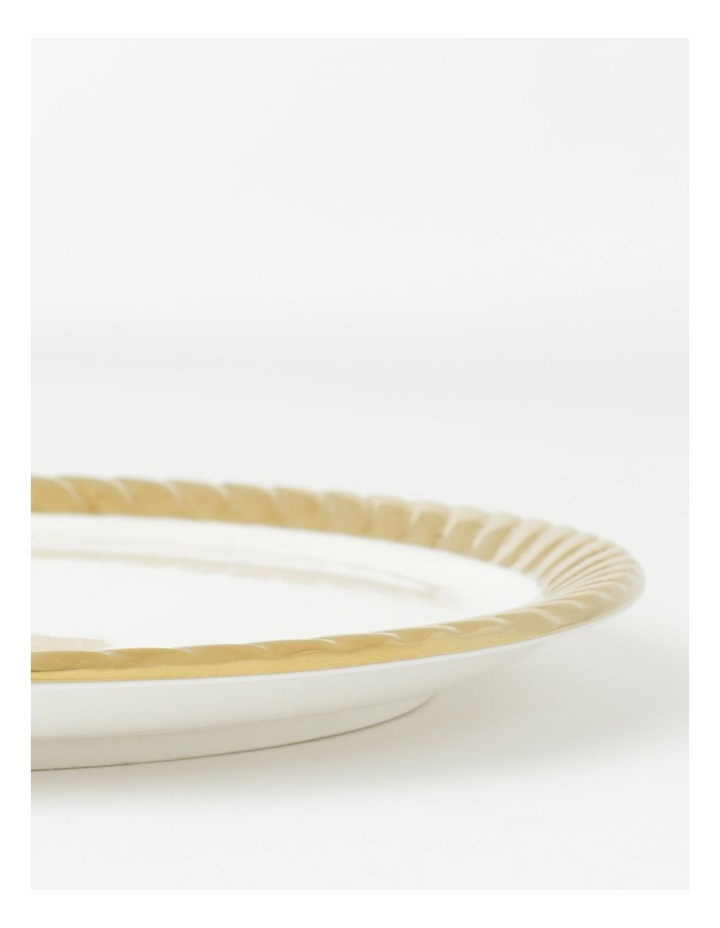 Gold Rope Side Plate in White image 3