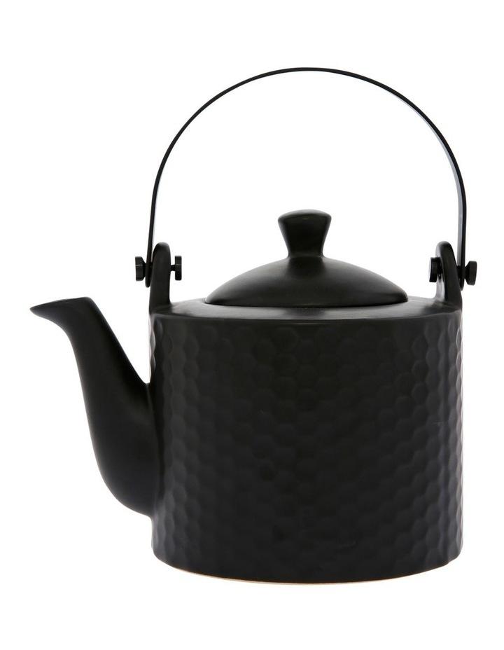 Iksan Stoneware Teapot - Matte Black image 1