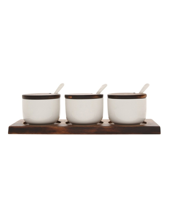 Berrilee Porcelain And Acacia 4pc Serving Set image 1