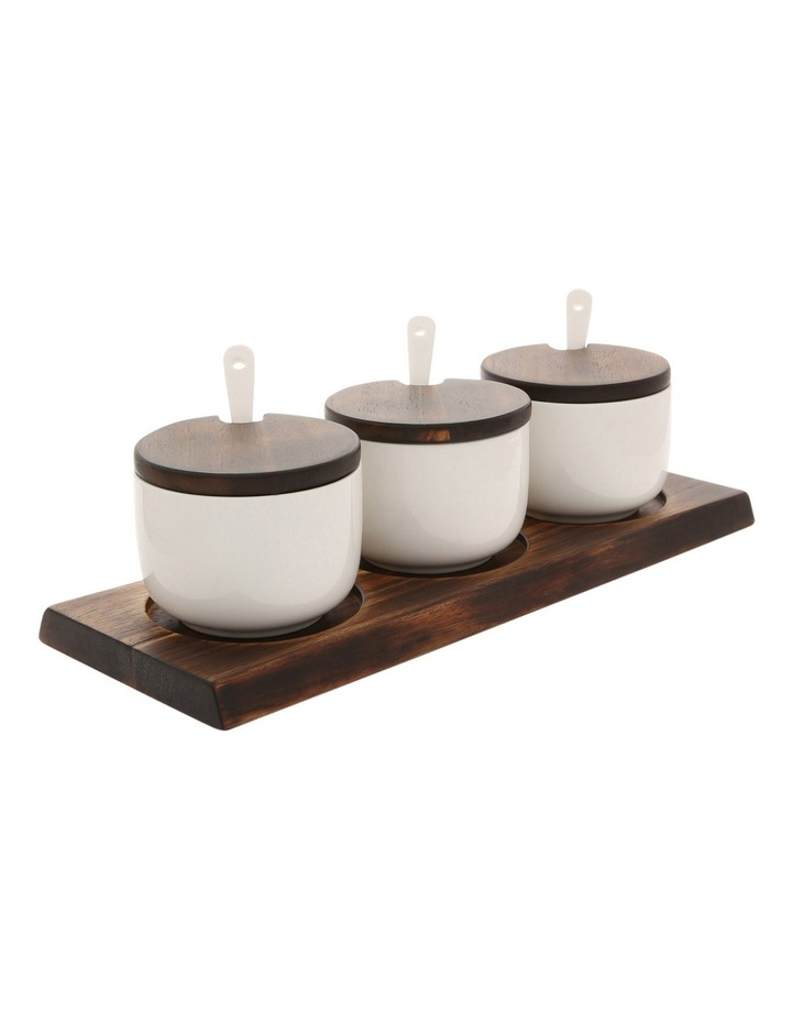 Berrilee Porcelain And Acacia 4pc Serving Set image 2