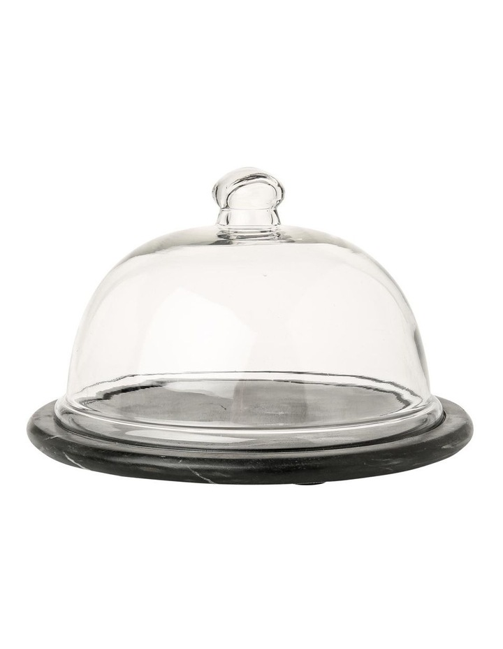 Sakala Black Marble Cheese Dome image 1