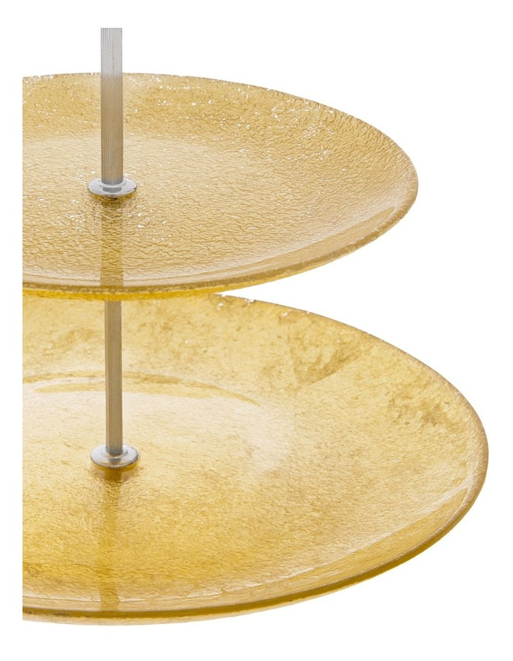 Sleigh 2 Tier Cake Stand Gold image 2