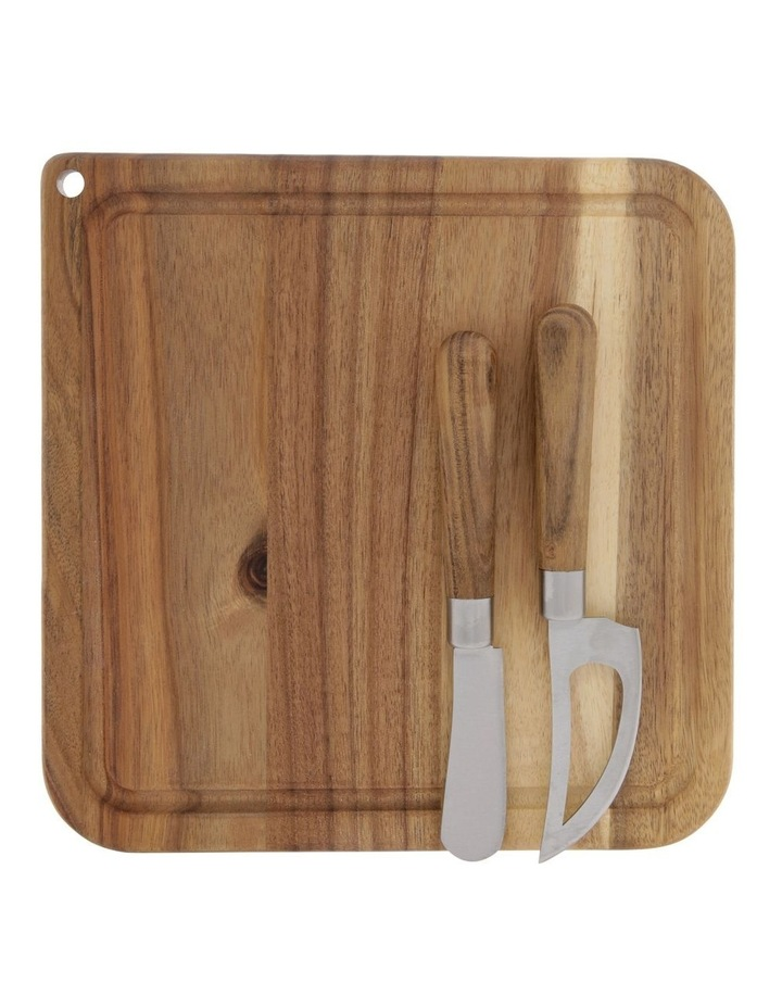 3-Piece Cheese Board & Knife Set image 3
